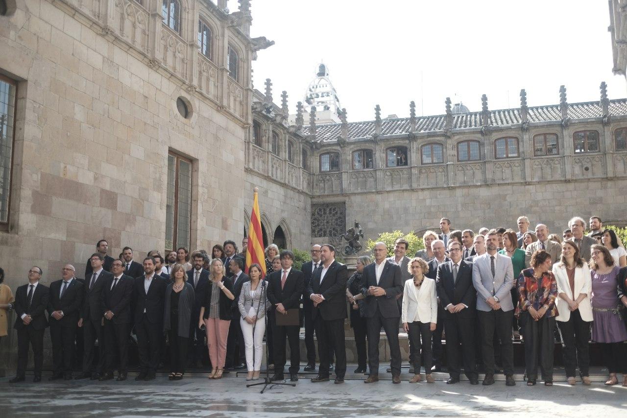 Acte d'anunci del referèndum al Principat de Catalunya