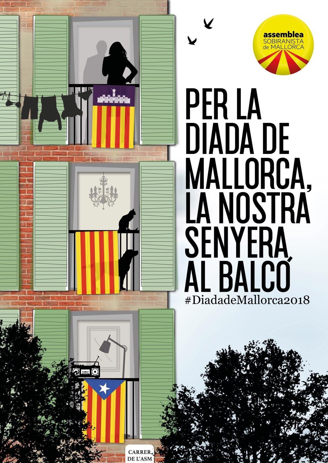 Per la Diada de Mallorca, la nostra senyera al balcó!