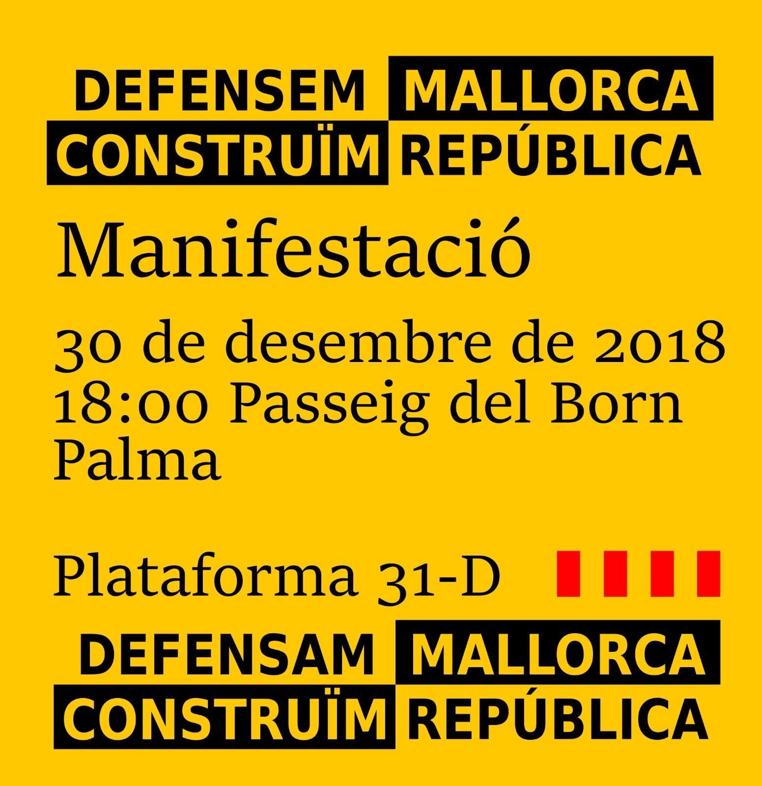 Manifestació 30D. Defensem Mallorca, construïm República