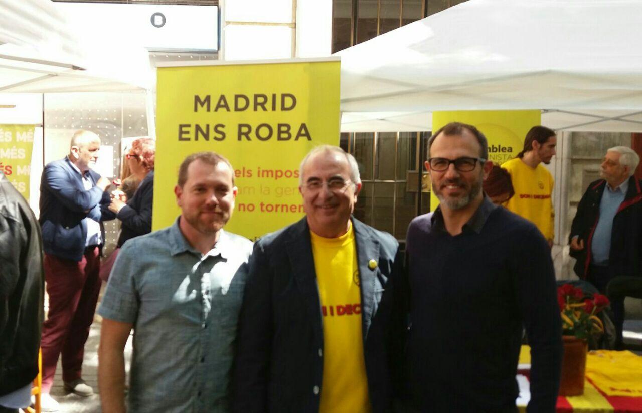 Soler amb David Abril i Biel Barceló (MÉS)