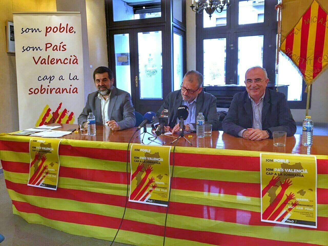 Jordi Sànchez d'ANC, Antoni Infante de la PDaD i Cristòfol Soler de l'ASM