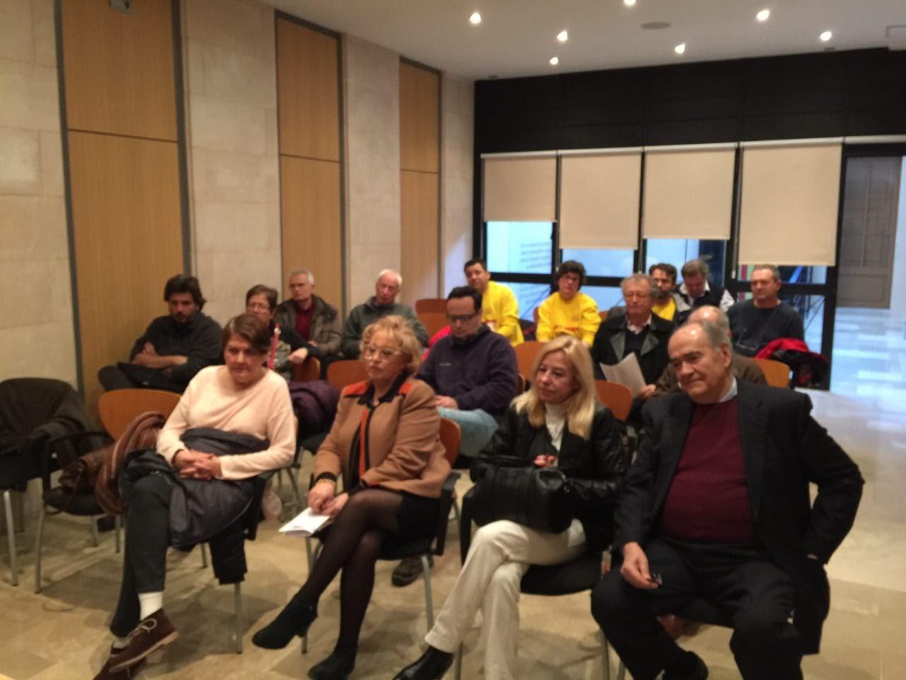 Assistents a la reunió de constitució de la secció local de Palma