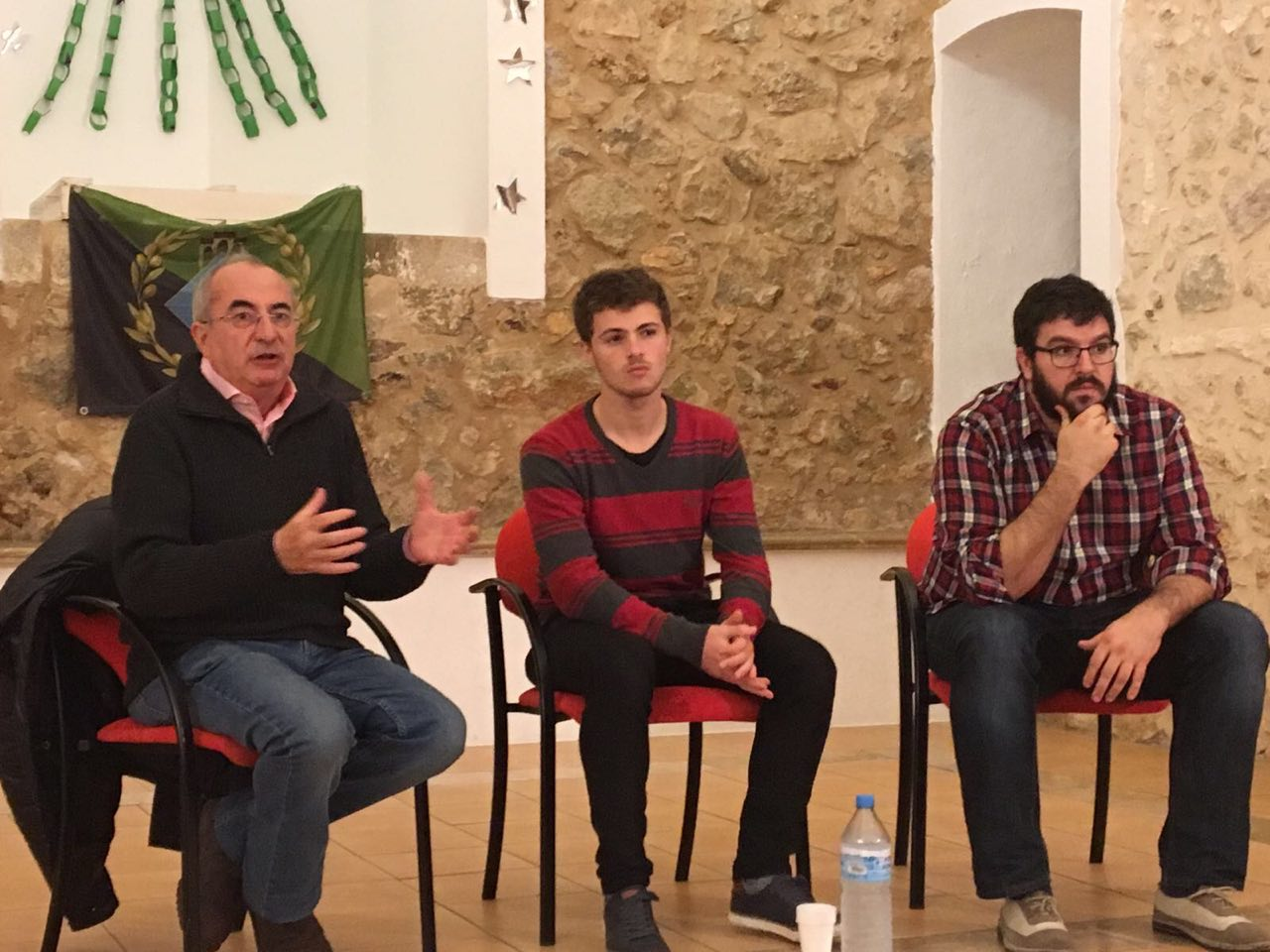 Lluís Apesteguía i Cristòfol Soler a la taula redona de Caimari sobre la Diada