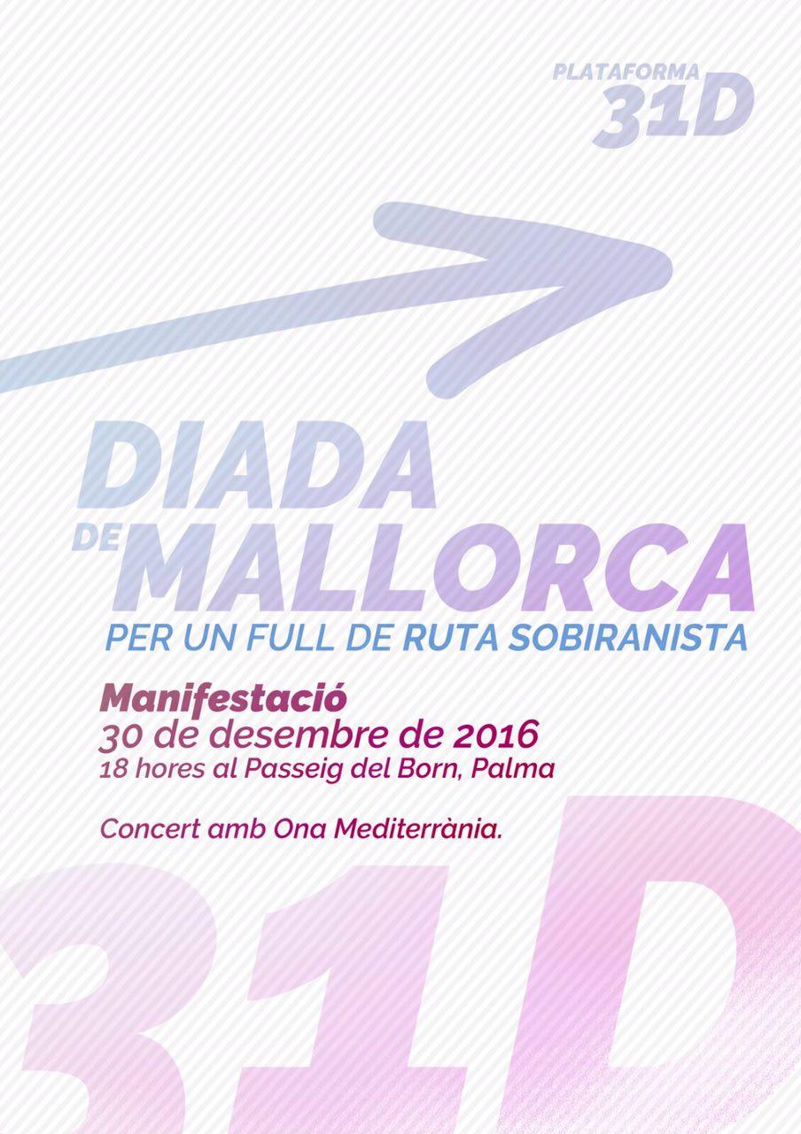 30-D, manifestació de la Diada de Mallorca